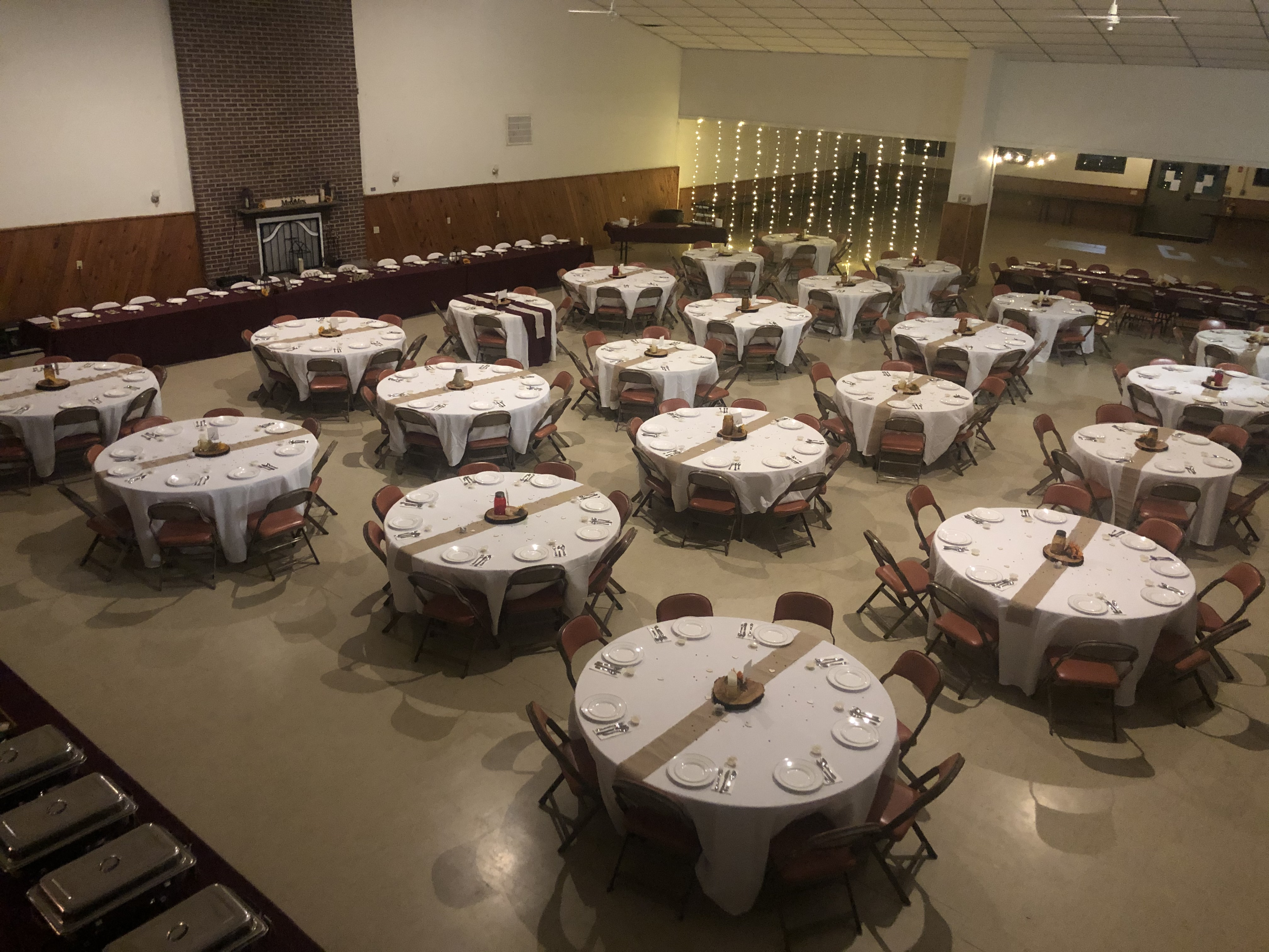Main Lodge set up for an event