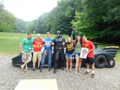 Batman with camp Staff